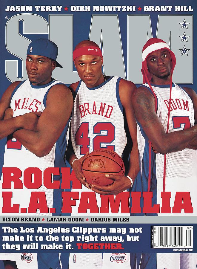 Elton Brand, Lamar Odom, Darius Miles: Rock L.A. Familia SLAM Cover Photograph by Atiba Jefferson