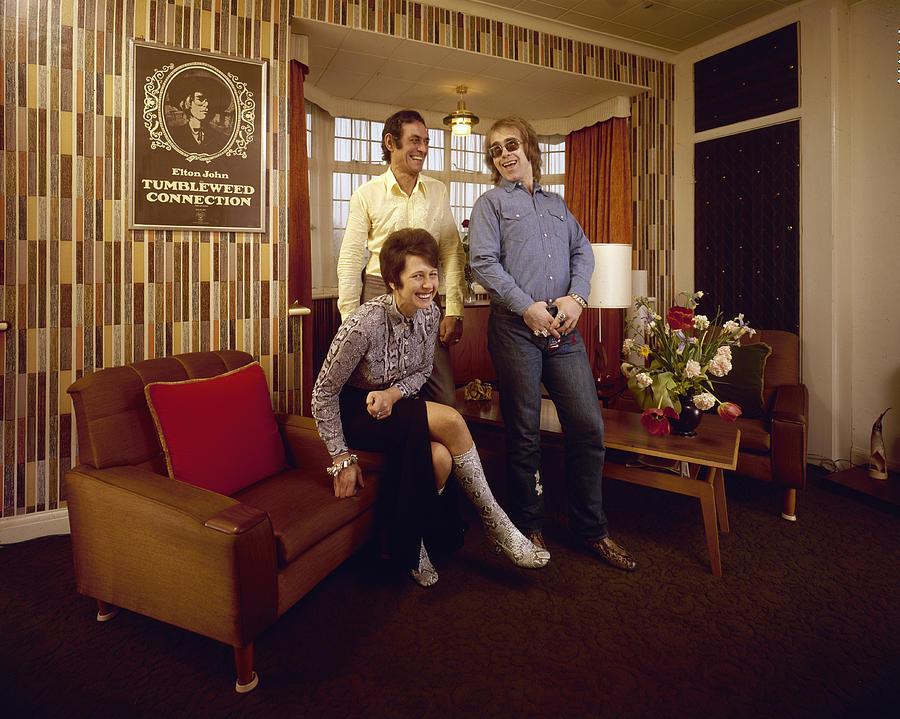 Singer Photograph - Elton John At Home by John Olson