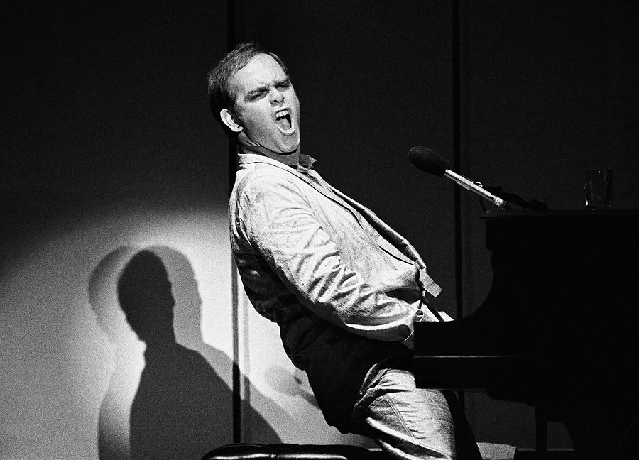 Rock Music Photograph - Elton John In Concert by George Rose