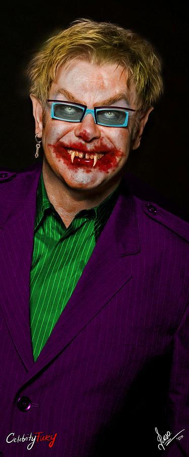 Elton John Digital Art - Elton John by Queso Espinosa