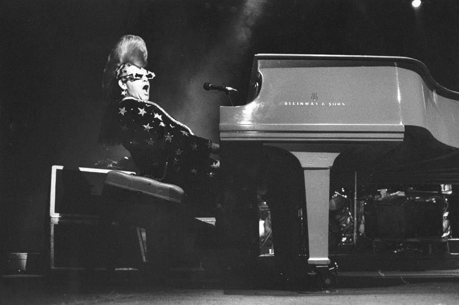 Elton John Sings At A Concert At Photograph by New York Daily News Archive