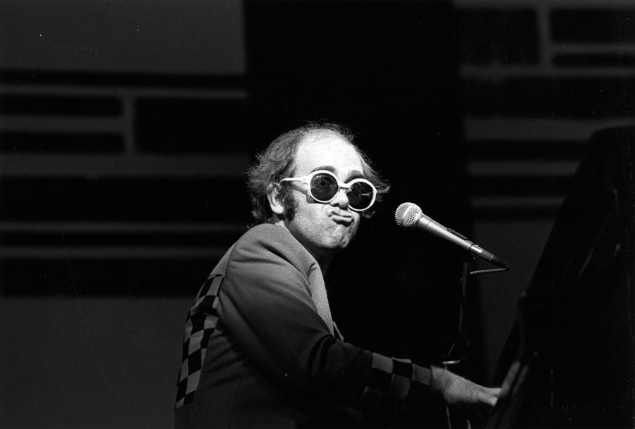 Rock Music Photograph - Elton Live by Robin Jones