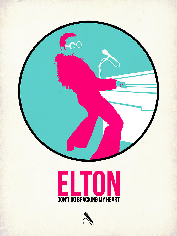 Elton John Digital Art - Elton Poster  by Naxart Studio