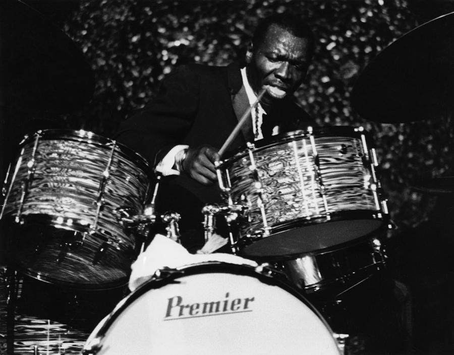 Concert Photograph - Elvin Jones On Drums by David Redfern