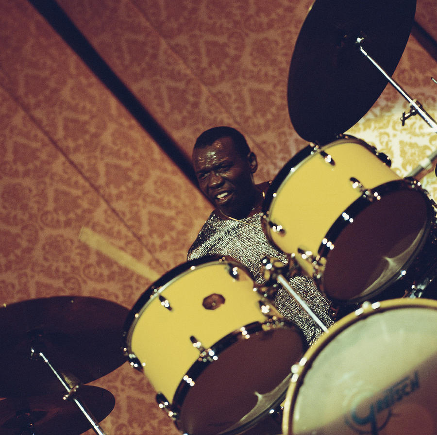 Elvin Jones On The Drums Photograph by David Redfern