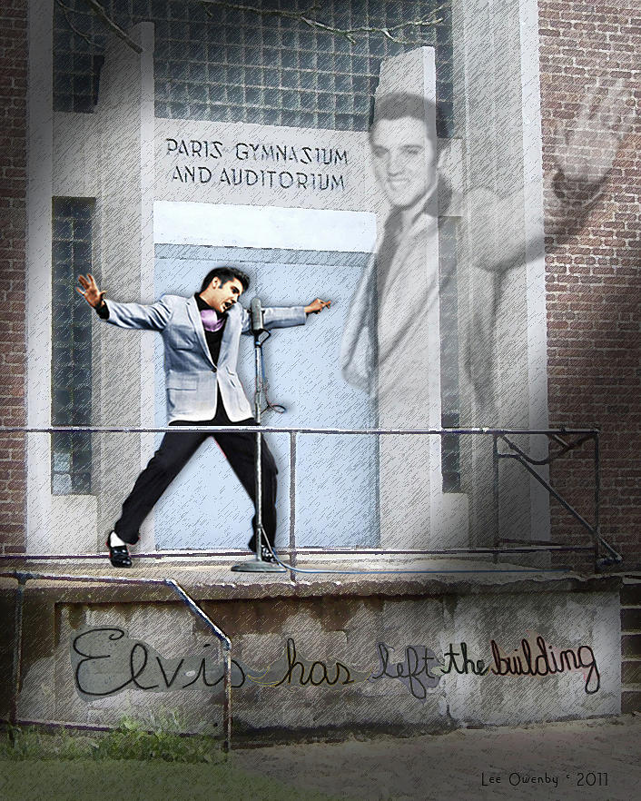 Elvis Has Left The Building by Lee Owenby
