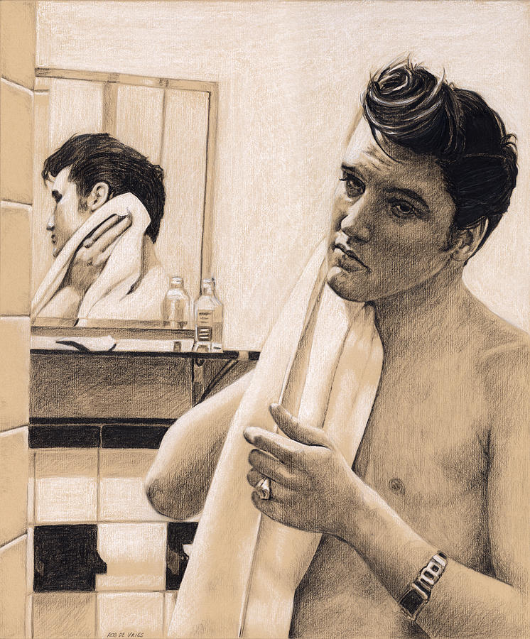 Elvis Drawing - Elvis in Charcoal #196 by Rob De Vries