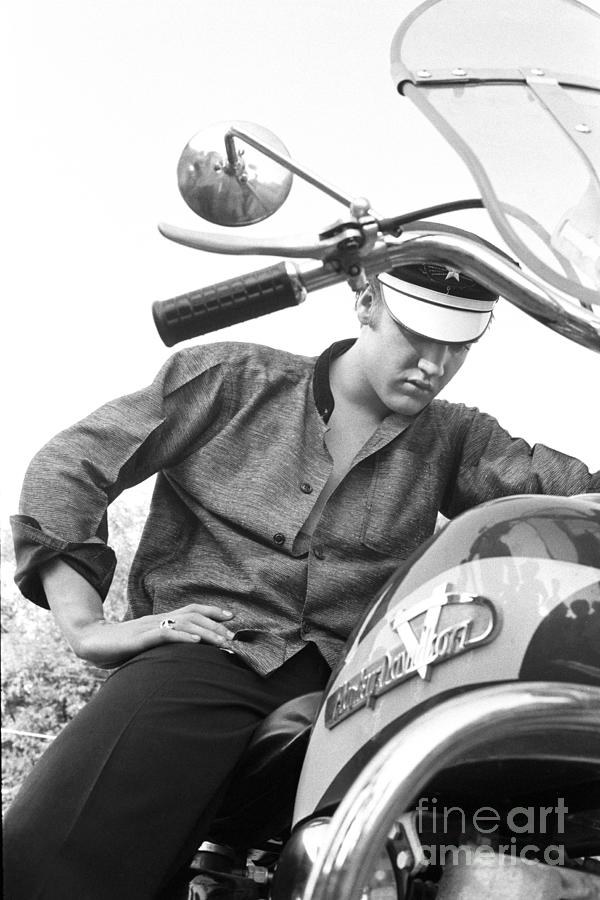 Elvis On A Harley Photograph by Alfred Wertheimer