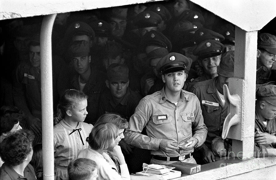 Elvis On Board The Uss Randall Photograph by Alfred Wertheimer