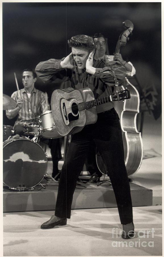 Elvis On The Ed Sullivan Show Photograph by Cbs Photo Archive
