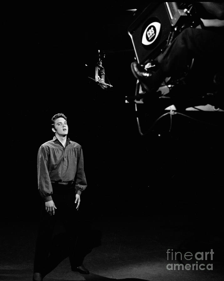 Elvis Performs On The Ed Sullivan Show Photograph by Cbs Photo Archive