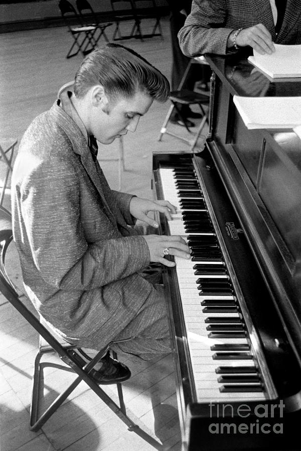 Elvis Plays Piano Photograph by Alfred Wertheimer