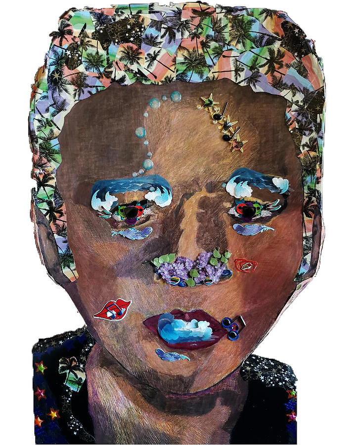 Elvis Portrait Collage by Kingsley Krafts