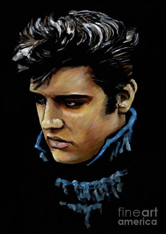 Elvis Presley Painting - Elvis Presley 8872 by Gull G