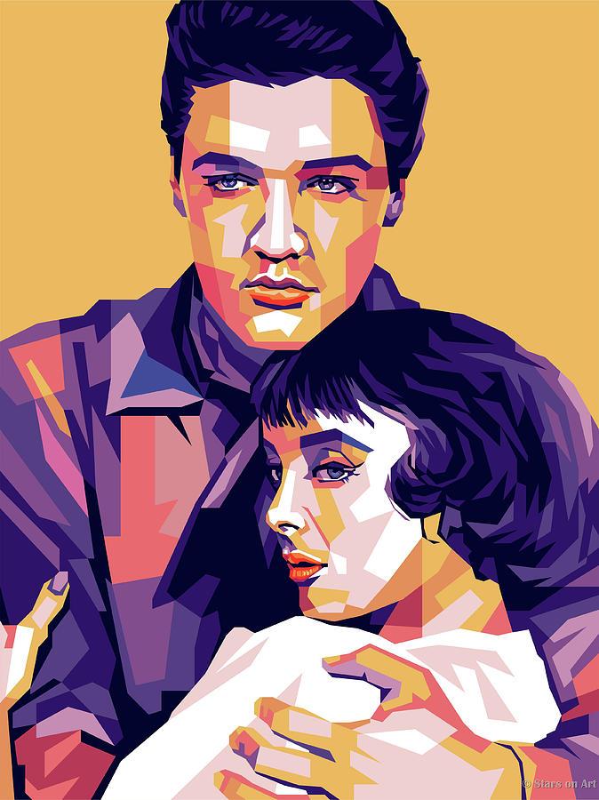 Elvis Presley And Carolyn Jones Digital Art