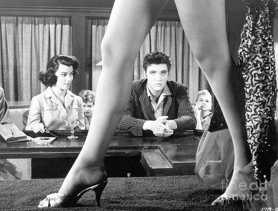 Elvis Presley Framed Between Womans Legs Photograph by Bettmann