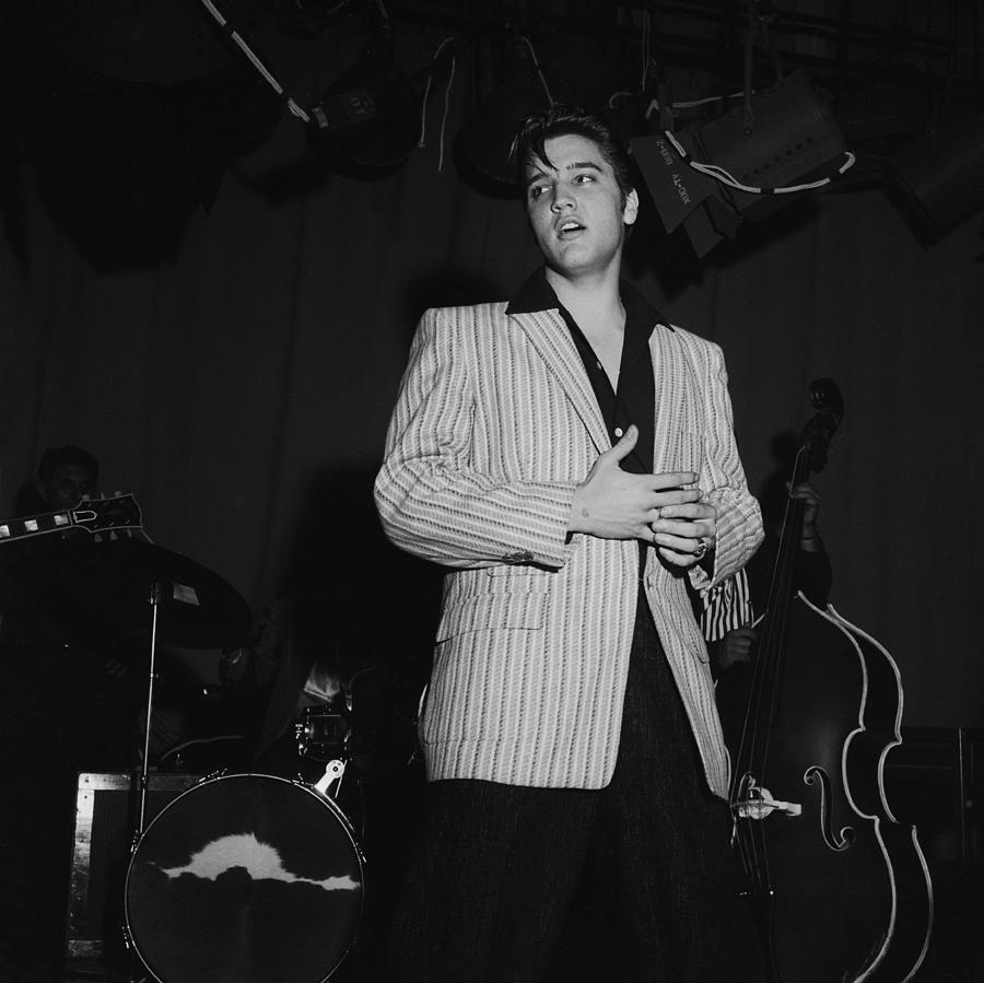 Elvis Presley On Milton Berle Photograph by Michael Ochs Archives