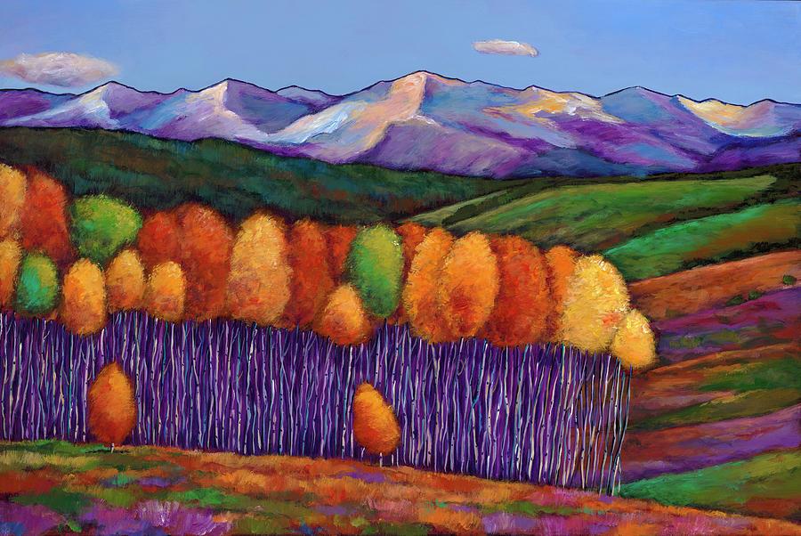 Aspen Trees Painting - Elysian by Johnathan Harris