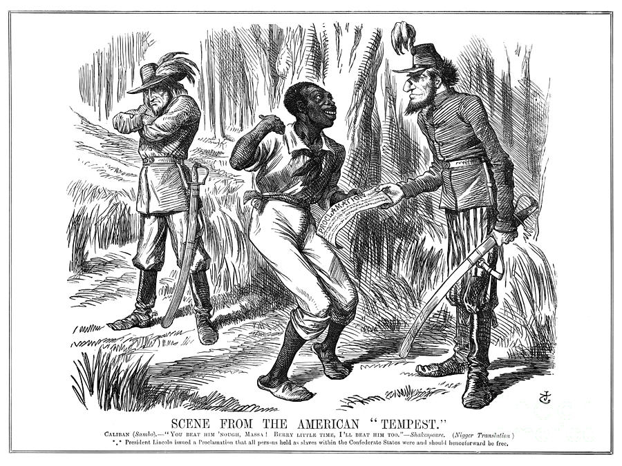 EMANCIPATION CARTOON, 1863 by Granger