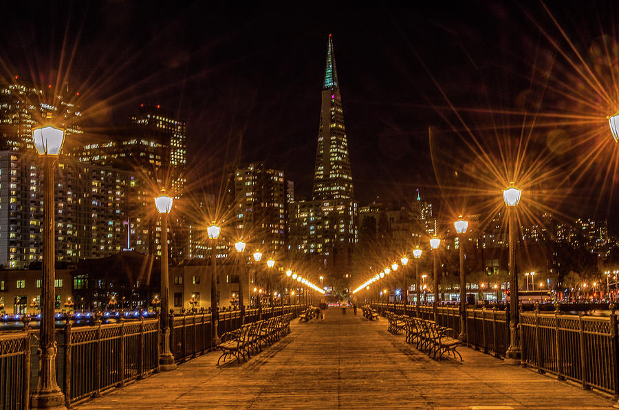 Embarcadero at Night by Douglas Wielfaert