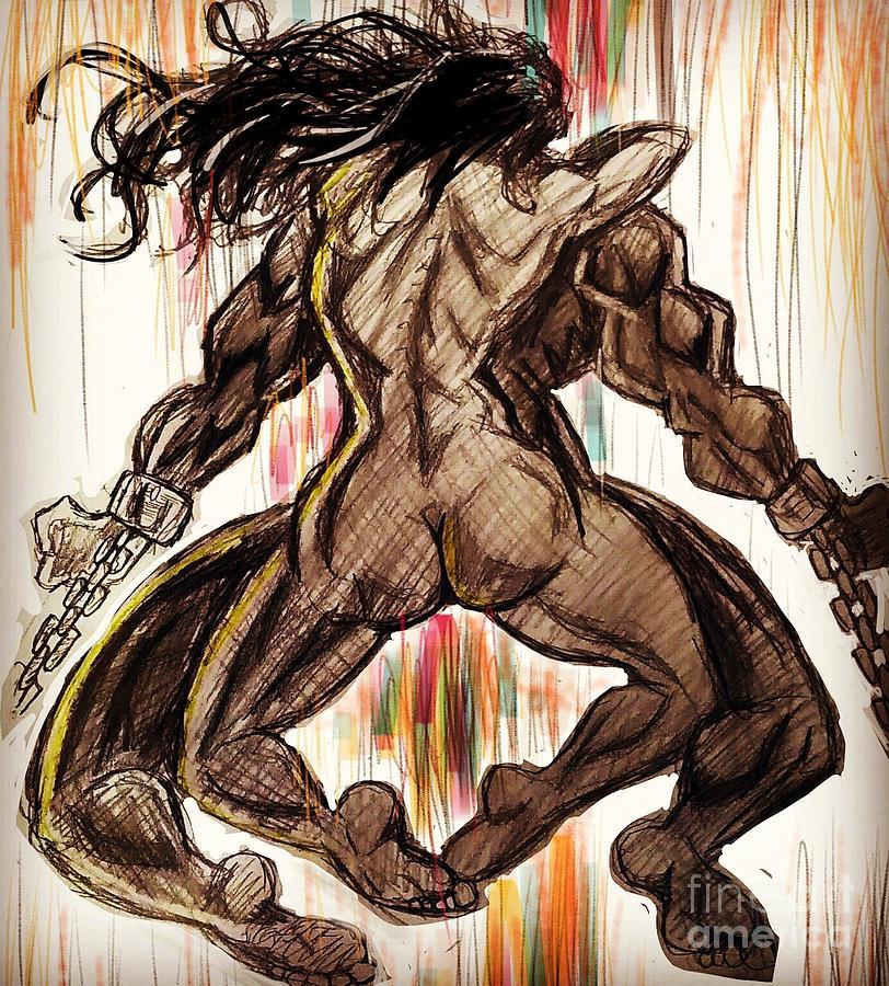 Naked Embrace Art Drawings