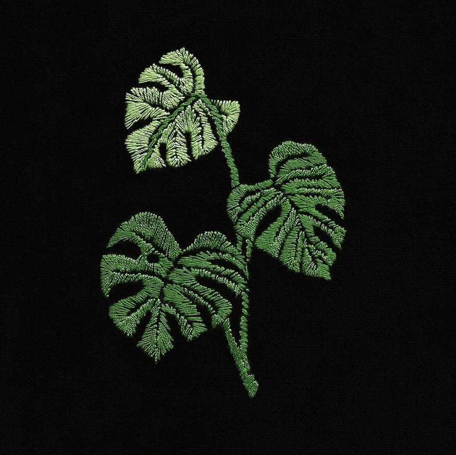 Embroidered Monstera by Masha Batkova