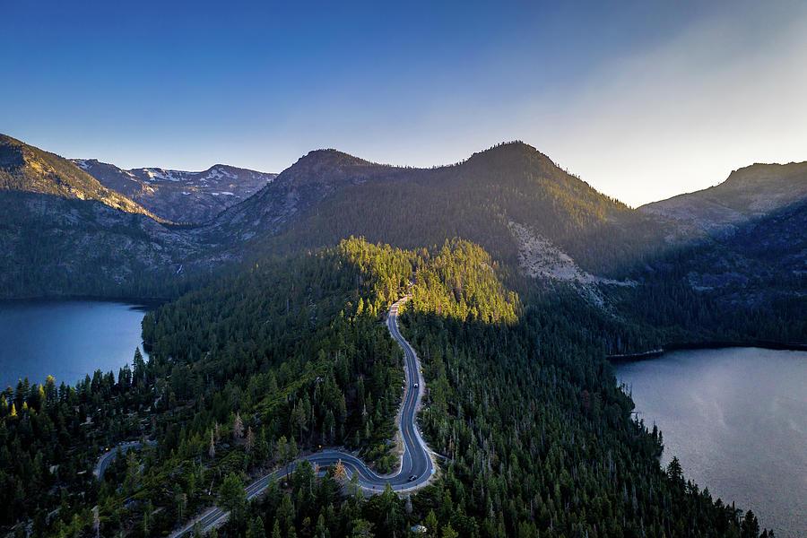 Emerald Bay Road Aerial Photograph