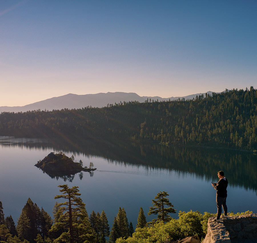 Emerald Bay Scenic Morning Sunrise  by Ants Drone Photography