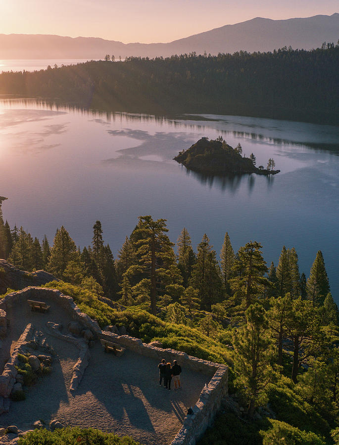 Emerald Bay Scenic Sunrise California  by Ants Drone Photography