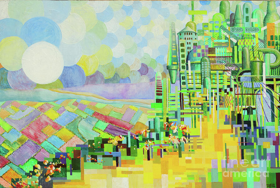 Emerald City2 Painting by Rust Dill
