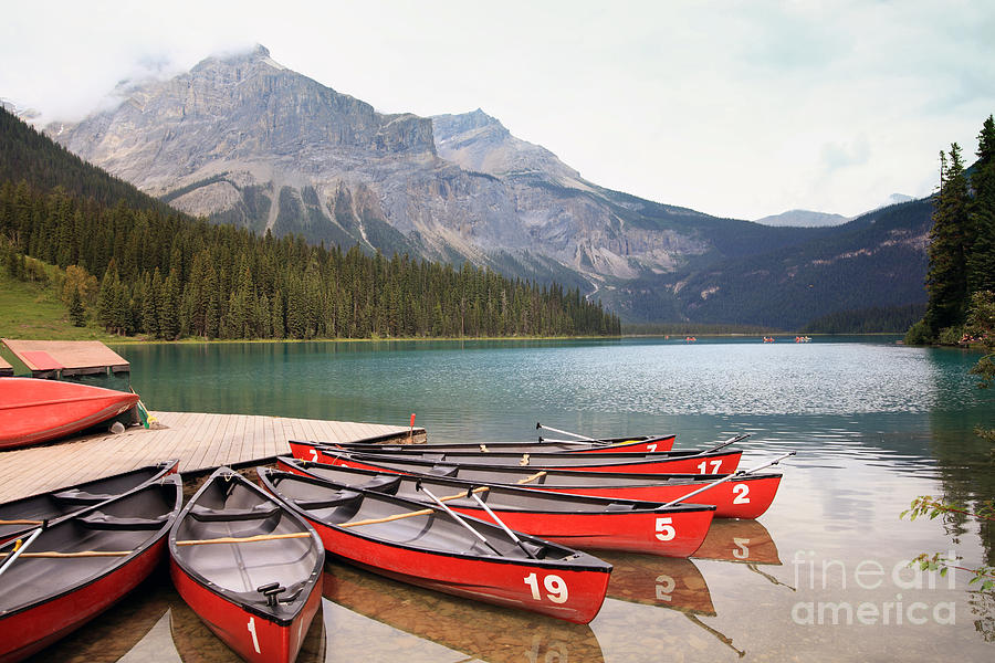 Forest Photograph - Emerald Lake Is One Of The Most Admired by Hdsidesign