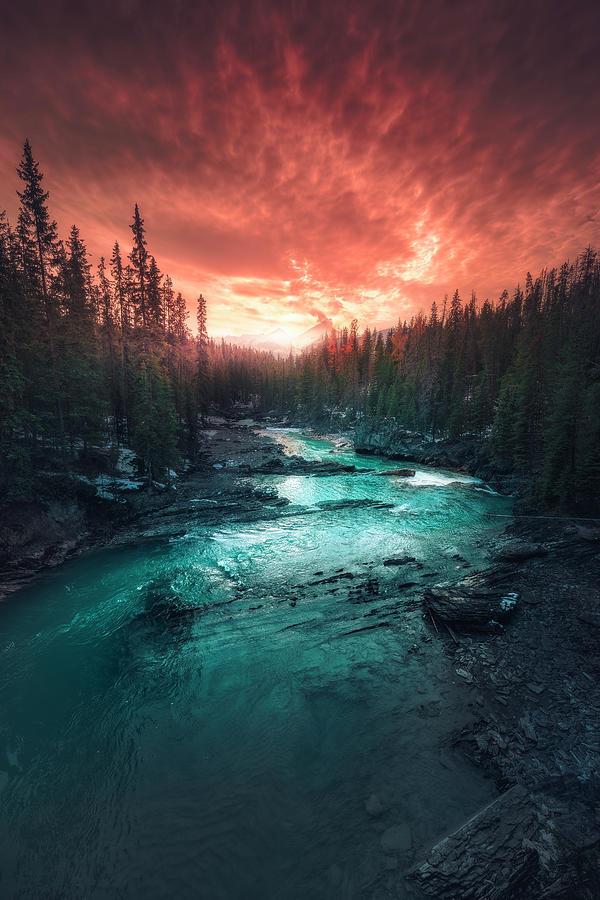 Emerald River Photograph - Emerald River by Calibreus
