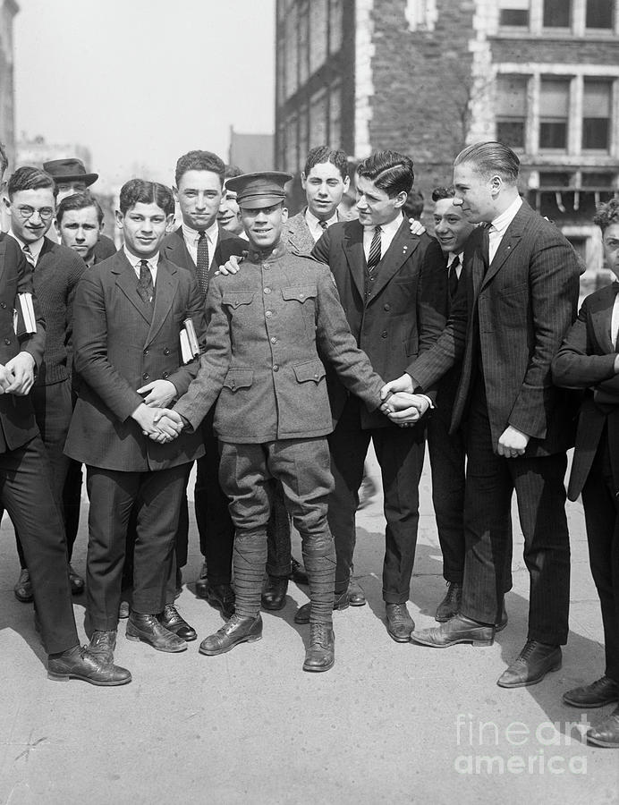 Emile Treville Holley With Schoolmates Photograph by Bettmann