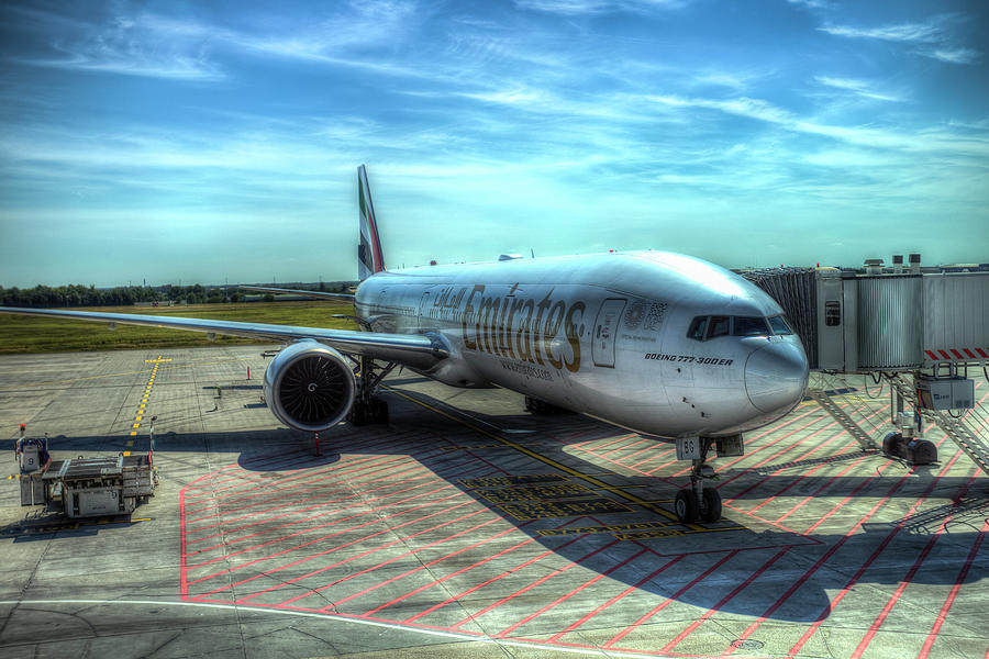 Emirates Boeing 777 Airliner Photograph