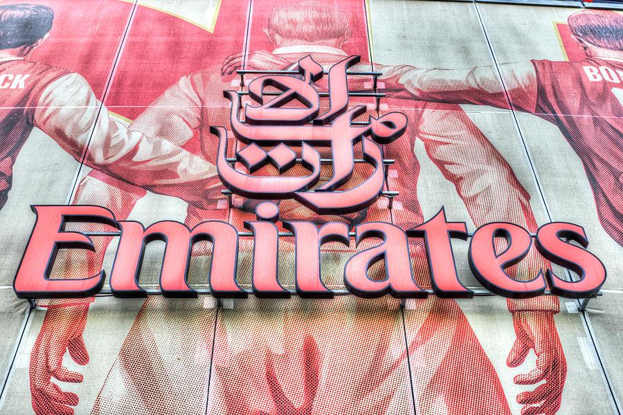 Emirates Photograph - Emirates Logo Emirates Stadium  by David Pyatt