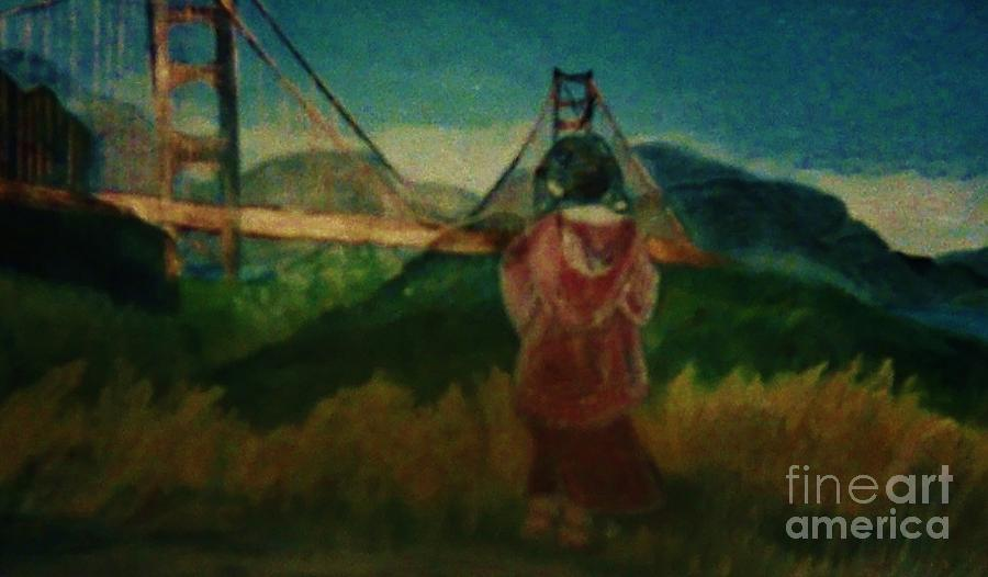 Emma At The Golden Gate Painting