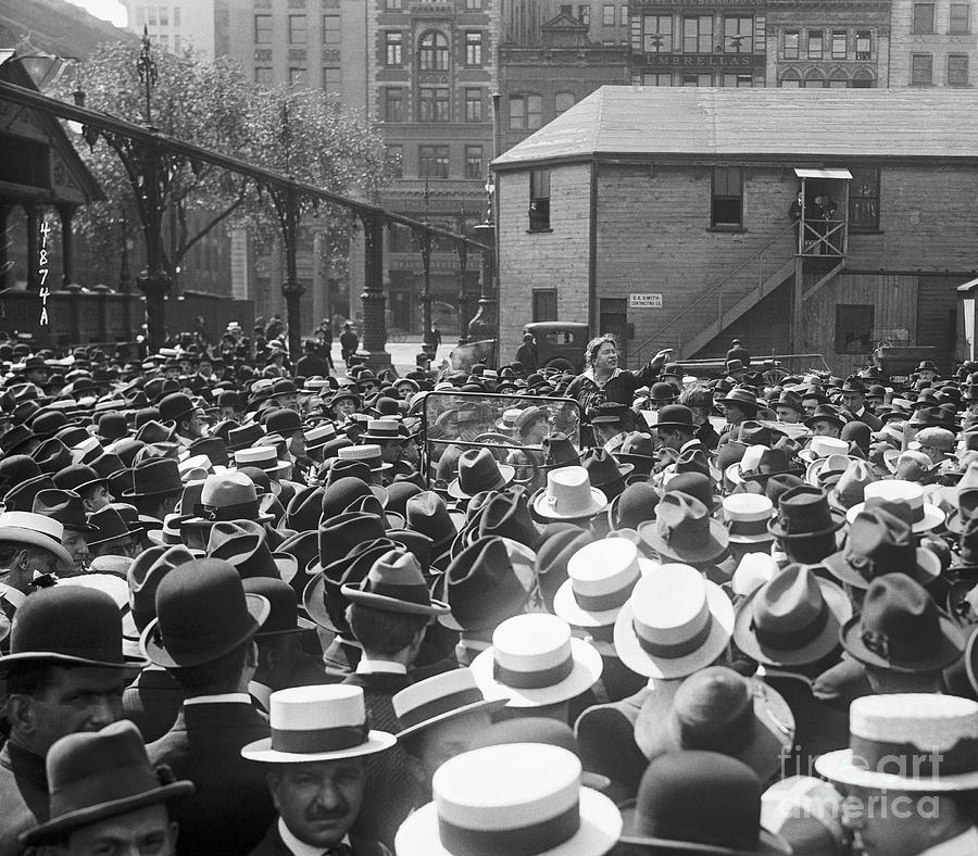 Emma Goldman Speaks At Union Square Photograph by Bettmann