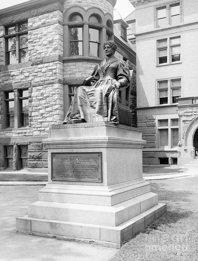 EMMA WILLARD STATUE, 1895 by Granger