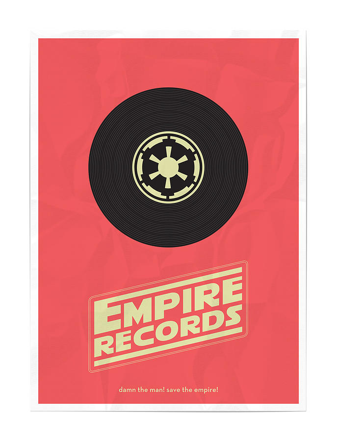 Star Wars Digital Art - Empire Records Star Wars by Geek N Rock