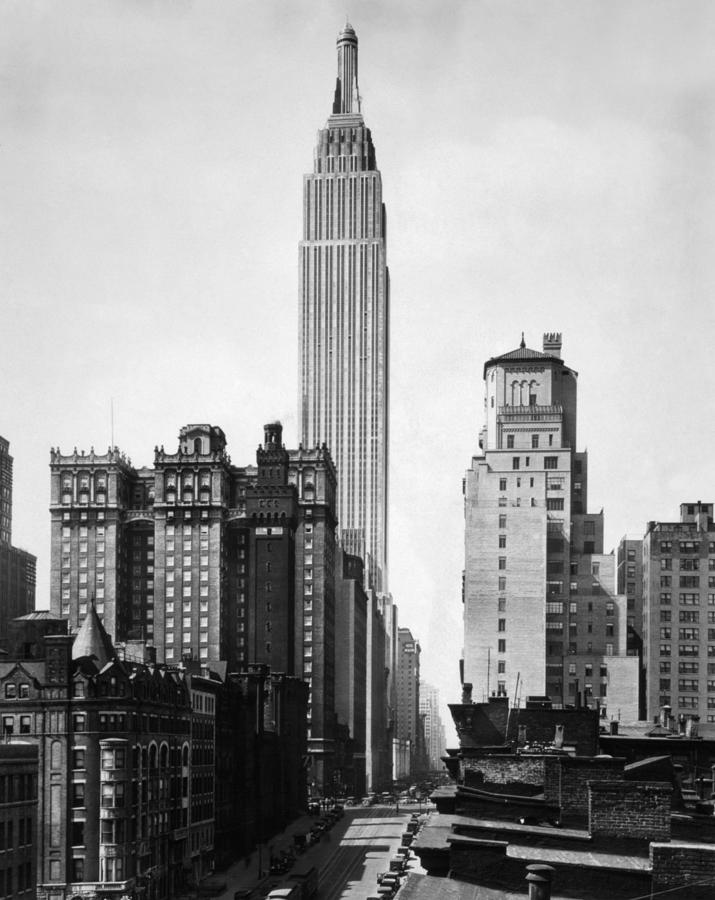 Empire State Building Photograph - Empire State Building - 1931 by War Is Hell Store
