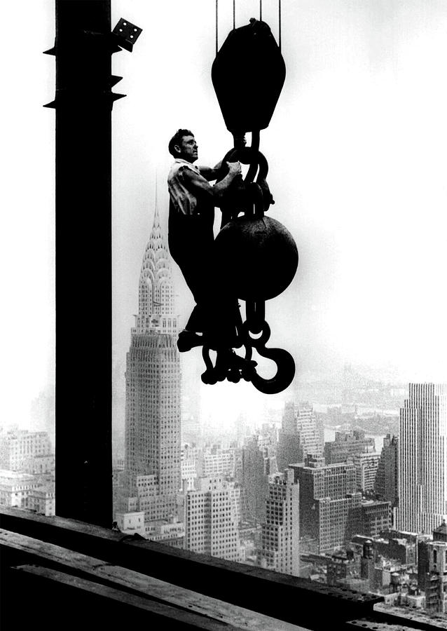 Empire State Building Construction - circa 1931 by Doc Braham