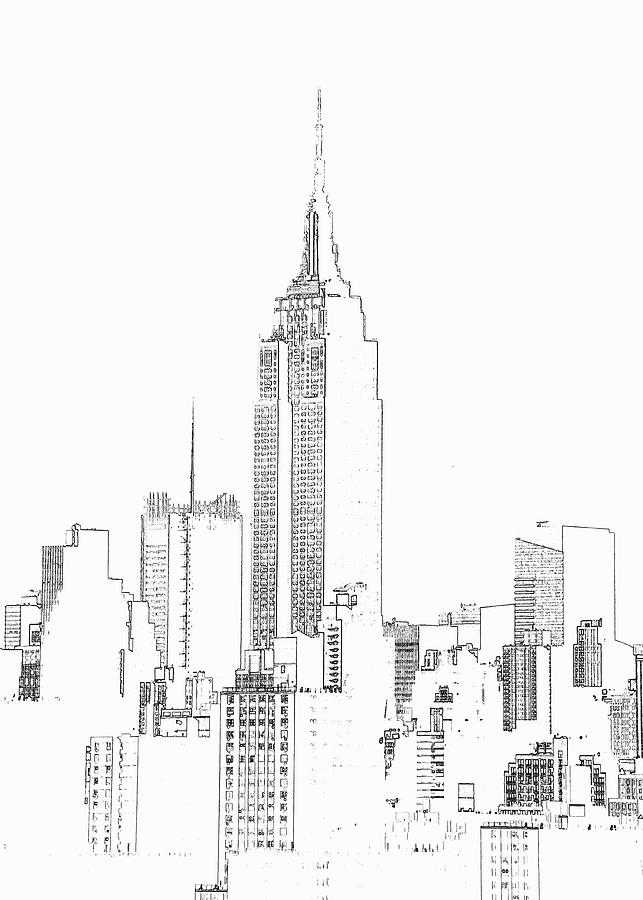 Empire State Building  Photographic Digital Art by Michael Duva