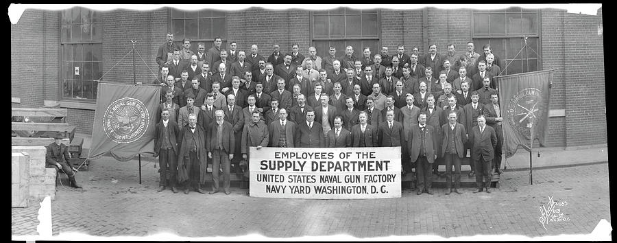 Panoramic Photograph - Employees Of The Supply Department by Fred Schutz Collection
