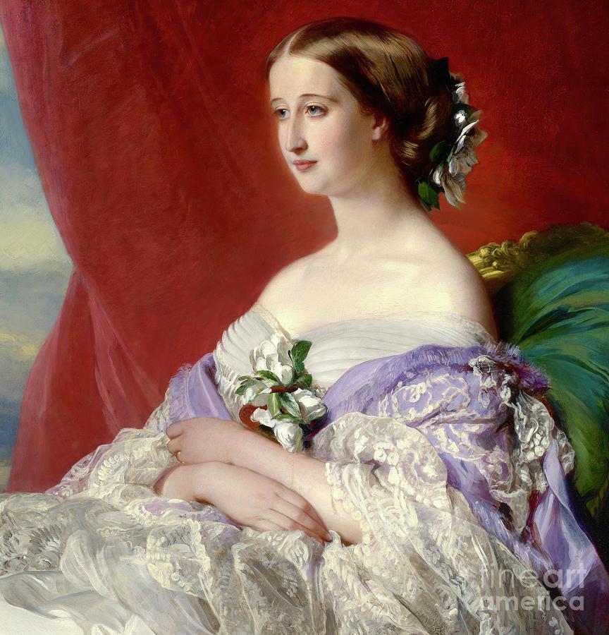 Regal Painting - Empress Eugenie De Montijo by Franz Xaver Winterhalter