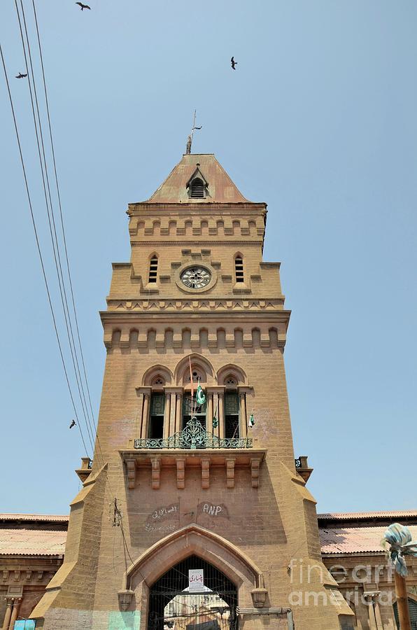 Empress Market clock tower in Saddar Karachi Pakistan by Imran Ahmed