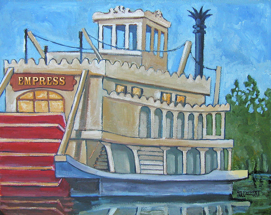 Steamboat Painting - Empress by Robert Holewinski