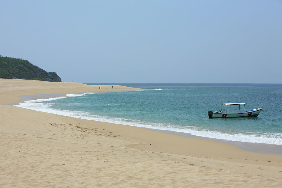 Empty Beach Photograph by Artelectico