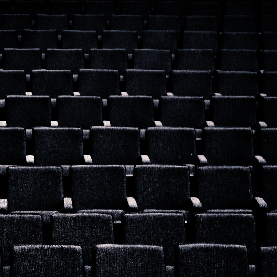 Empty Chairs In A Deserted Auditorium Photograph by Sheila Paras