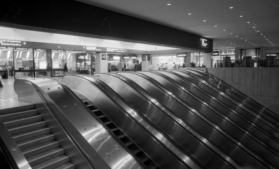 Empty Escalators Under The World Trade Photograph by New York Daily News Archive