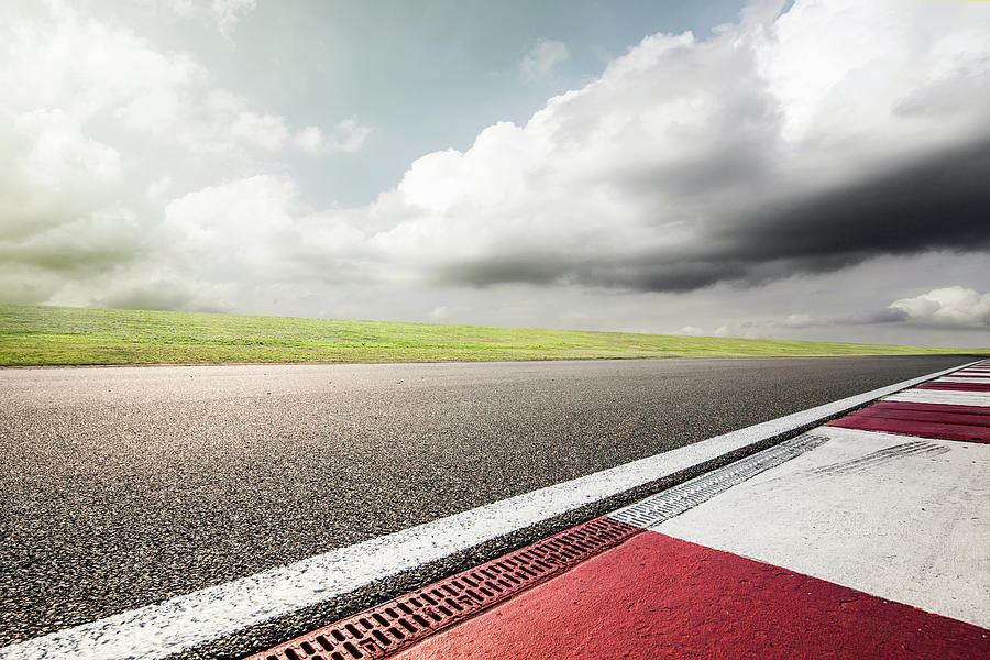Empty Motor Racing Track Photograph by Yubo
